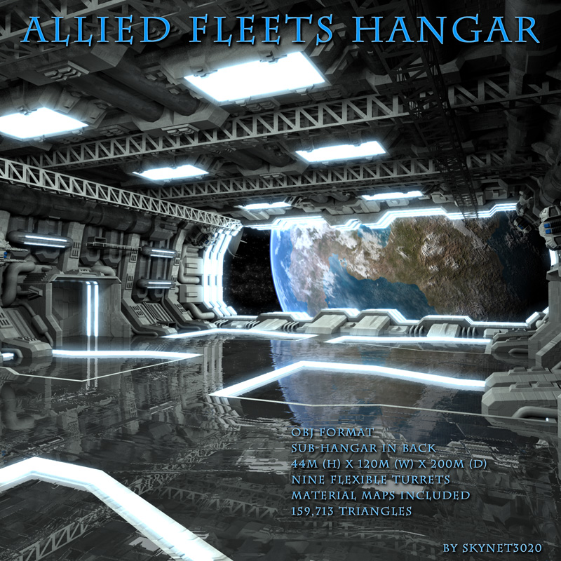 Allied Fleets Hangar OBJ Format