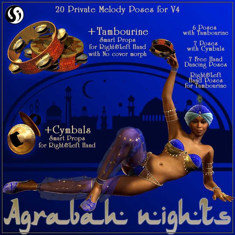 Agrabah Nights: Private Melody Poses for V4