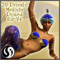 Agrabah Nights: Private Melody Poses for V4 3D Figure Assets CJ-studio