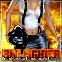 FireFighter:<br> Brandy & Costume for V4 by outoftouch