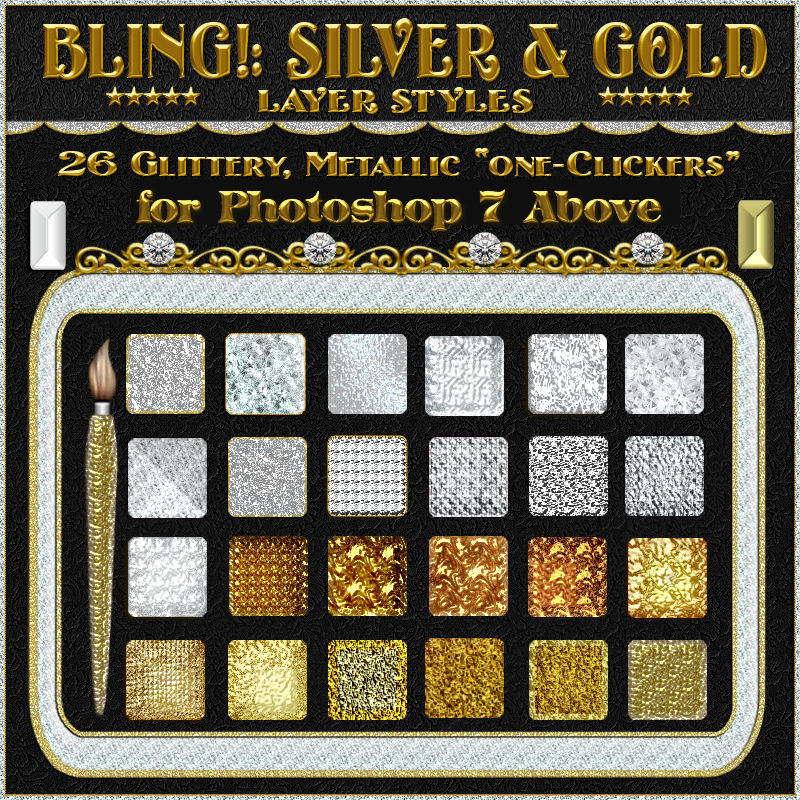 SILVER & GOLD BLING!