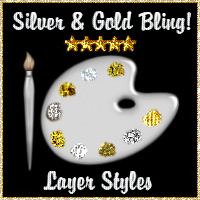 SILVER & GOLD BLING! 2D And/Or Merchant Resources Themed fractalartist01