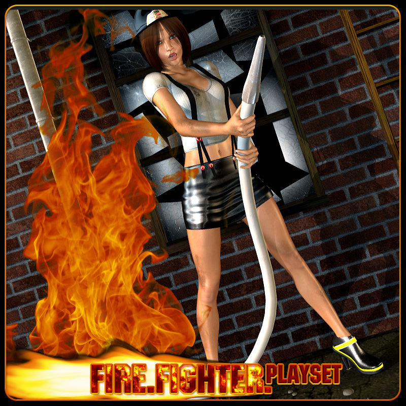 FireFighter Playset: Props & Poses for V4