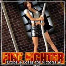 FireFighter Playset: Props & Poses for V4 by ilona