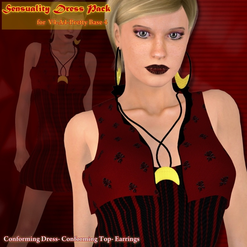 Sensuality Dress Pack by teknology3d