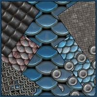 Seamless Textures Collection - Coatings and Armor 2D Black_Star