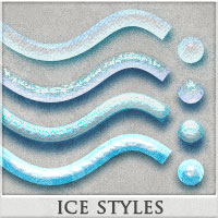 DW - Ice Styles for Photoshop 2D Graphics DreamWarrior
