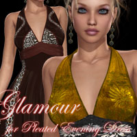 Glamour for Pleated Evening Gown  kaleya