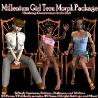 Millennium Girl Teen Package 3D Figure Essentials caleb68