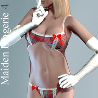 Maiden Lingerie 4 for V4 3D Figure Assets hongyu