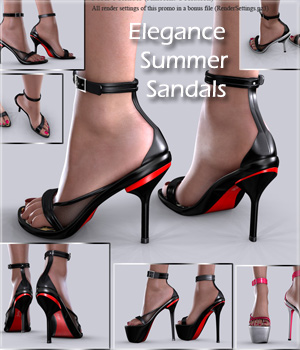 V4 Elegance Summer Sandals 3D Figure Essentials Arrin