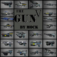 The Gun 5 by Mock Stand Alone Figures Themed Props/Scenes/Architecture Mock