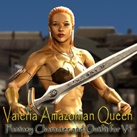 Valeria Amazonian Queen 3D Figure Essentials scooby37