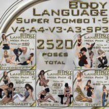Body Language SuperCombo 1-5 - for V4-A4-V3-A3-SP3 Poses/Expressions Themed ilona