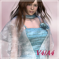 Airly dress for V4/A4 3D Figure Assets kobamax