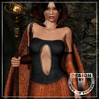 Gildique for V4 Hooded Cloak and V4 Morphing Fantasy Dress Clothing outoftouch