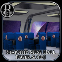 Starship Mess Hall (Poser & OBJ) Props/Scenes/Architecture Themed RPublishing