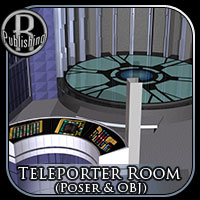 Teleporter Room (Poser & OBJ) Props/Scenes/Architecture Themed RPublishing