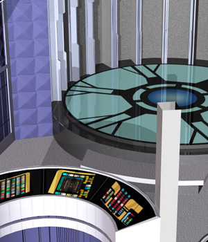 Teleporter Room (Poser & OBJ) 3D Models RPublishing