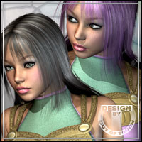 Olessa Hair XPansion 3D Figure Assets outoftouch