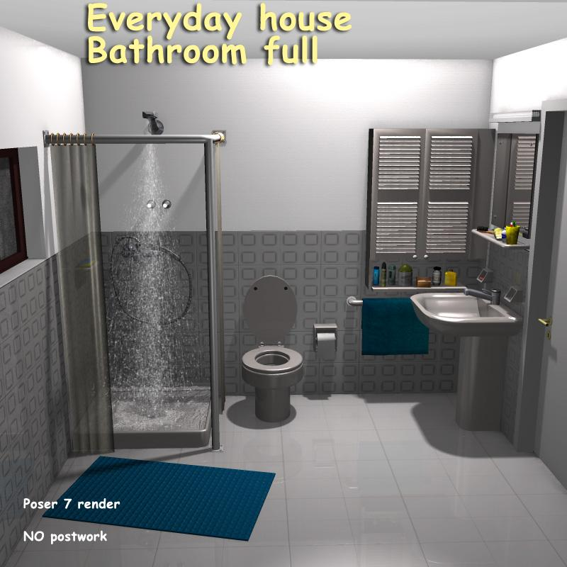 Everyday House Bathroom Full 3d Models Greenpots