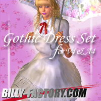 V4A4 Gothic Set Hair Clothing billy-t
