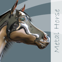 Metal Horse N Poses For Mill Horse  WhopperNnoonWalker-