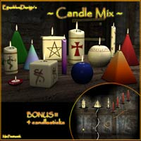 EyesblueDesign's Candle Mix 3D Models EyesblueDesign
