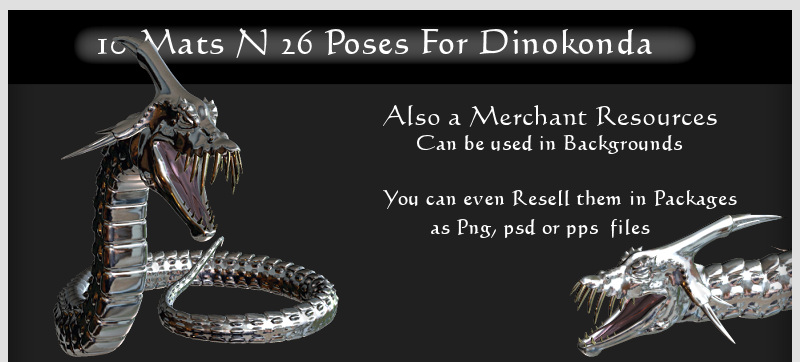 10 Materials N 26 Poses for Dinokonda