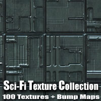 Sci-Fi Texture Collection 3D Models 2D Graphics designfera