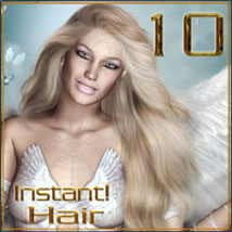 Instant! Hair 10 2D Graphics 3D Models ilona