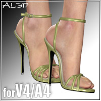 Shoe Pack4 for V4/A4 3D Figure Assets _Al3d_