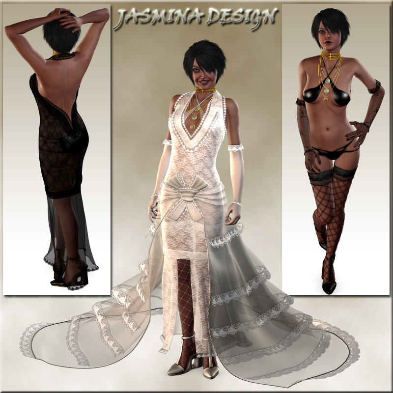 Complete Bridal Set for Victoria 4.2 (11 clothing figures)
