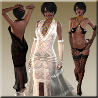 Complete Bridal Set for Victoria 4.2 (11 clothing figures) 3D Figure Assets jasmina
