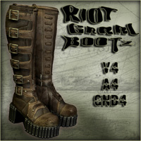 Riot Grrrl Bootz 3D Figure Essentials Nursoda
