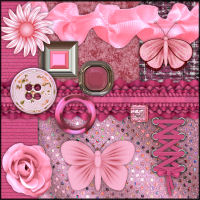 Fabric Merchant Resource Kit - Vol.3 : Strawberry Daiquiri 2D Graphics Propschick