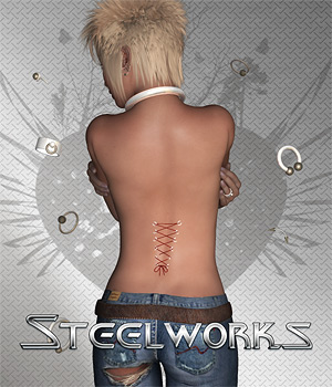 Steelworks for V4 3D Figure Assets Digital-Lion