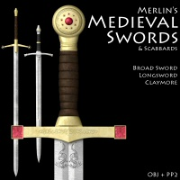 Merlin's Medieval Swords 3D Models 3D Figure Essentials Merlin_Studios