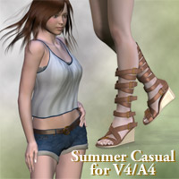 Summer casual for V4/A4 3D Figure Essentials kobamax