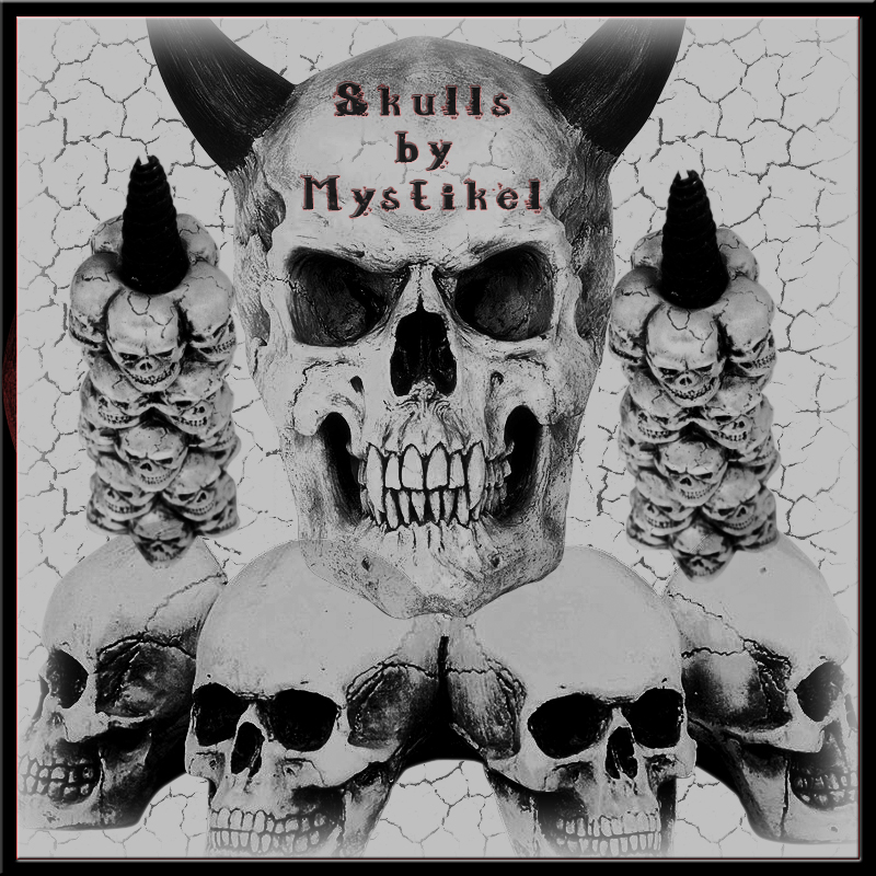 Skull Brushes by mystikel
