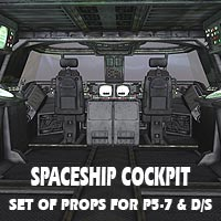 Spaceship Cockpit 3D Models coflek-gnorg