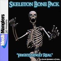Skeleton Bones Pack 3D Models keppel