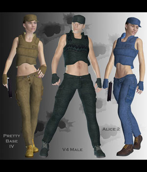 Mercenary Styles & Morphs 3D Figure Assets PureEnergy