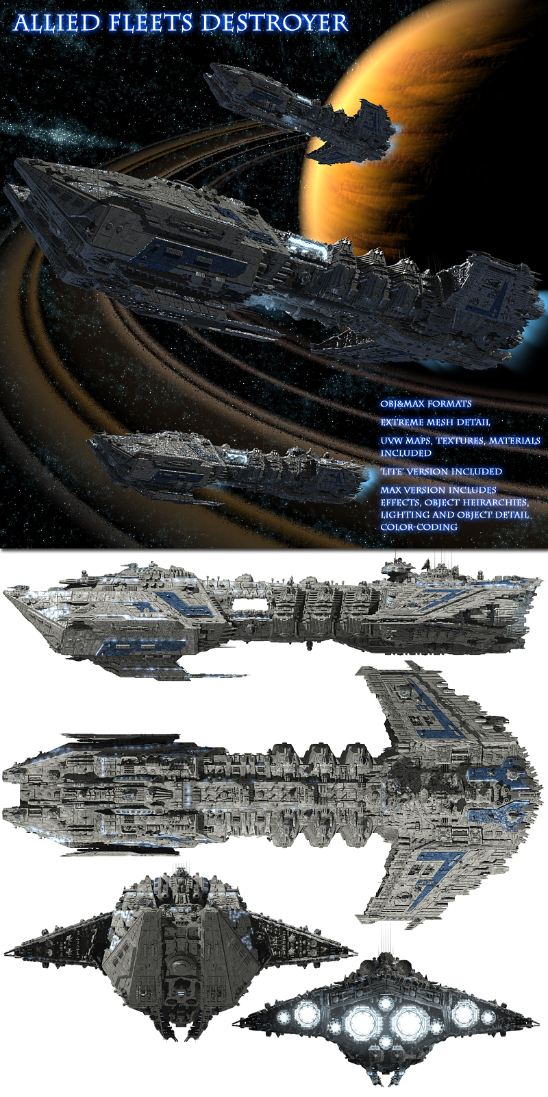 Allied Fleets Destroyer - Multi Format