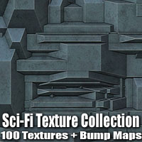 Sci-Fi Texture Collection 2 3D Models 2D Graphics designfera