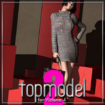 Topmodel Kit 2 for V4 3D Figure Essentials 3D Models Software outoftouch