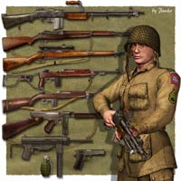 WW2 Guns_USA by panko