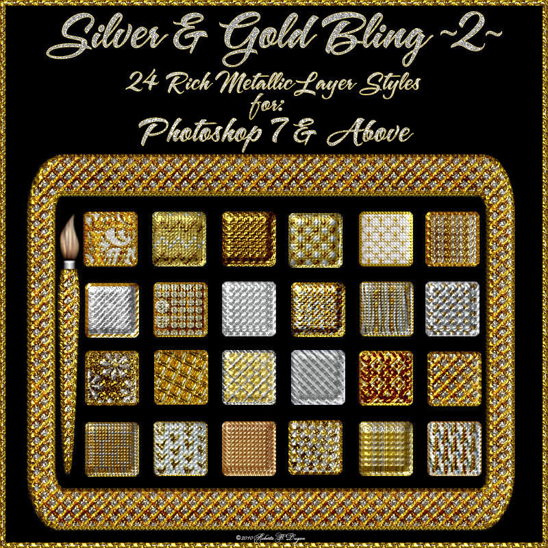 Silver & Gold Bling! Styles Set 2