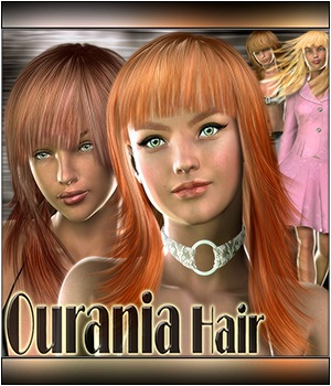 Ourania Hair 3D Figure Assets Mairy
