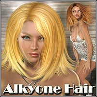 Alkyone Hair 3D Figure Assets Mairy